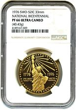 1976 US National Bicentennial 33 mm Gold Medal - NGC PF-66 UCAM - proof SWO-52IC