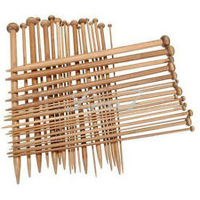 36X Knitting Needles Single PointedSmooth Carbonized Bamboo Crochet 18Sets  N4U8