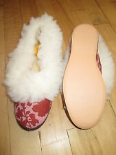 VINTAGE  FULL FUR COLLAR SLIPPERS SIZE 3 FLEXIBLE RUBBER SOLES