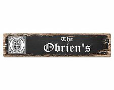 SP0849 The OBRIEN Family name Sign Bar Store Shop Cafe Home Chic Decor Gift
