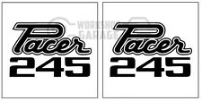 HEMI CHRYSLER VALIANT - Badge Style Stickers - Pacer 245 Standard #13