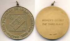 1988 YUGOSLAVIA OPEN Table Tennis Championships winners MEDAL Zagreb
