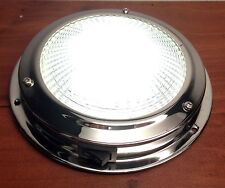 """MARINE BOAT RV TRAILER 4""""LENS LED ACCENT CEILING/CABIN/DOME LIGHT SS TOGGLE"""