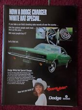1969 Print Ad  Dodge Charger Muscle Car Automobile ~ Cowgirl White Hat Special