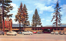 McCall ID Shore Lodge Resort on Payette Lake Old Cars Woodie Postcard