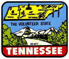 #660 (1) Tennessee volunteer state vols Luggage Label Travel Decal Sticker Repro