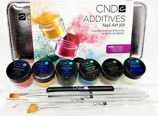Color Additives - 6 additives & Logo Tool Set - Nail Art Kit- Cnd
