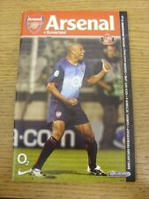 06/10/2002 Arsenal v Sunderland  . Item appears to be in good condition unless p