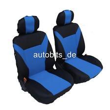 2 vordere Auto Sitzbezug Sitzbezüge Schonbezüge Schonbezug Universal Set Blau