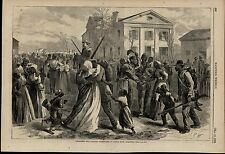 Black Soldiers Returning Home Arkansas 1866 fascinating antique engraved print