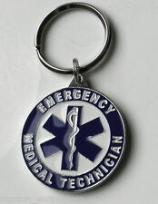 EMT EMERGENCY MEDICAL TECHNICIAN FIRST RESPONDER KEYRING KEY CHAIN 1.5 INCHES