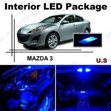 Blue LED Lights Interior Package Kit for Mazda 3 2014 & up ( 6 Pieces )