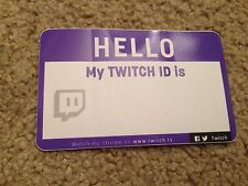 Pax West 2016 Penny Arcade Twitch Exclusive Hello My Id Is Name Tag Sticker