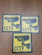 VIDEO SURVEILLANCE Security Decal  CCTV  Warning Sticker (4x4in )set of 3