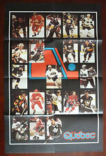1979 NHL Hockey Quebec Le Magazine /Vol. 1 No 1 / Affiche Couleur / Giant Poster