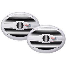 """BOSS MR690 6"""" x 9"""" 2-Way Marine Speaker Pair 350 Watt White"""