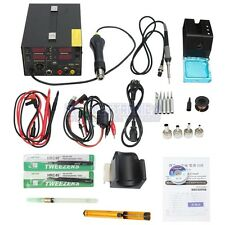 Saike 909D+ Rework Soldering Station + Hot Air Gun + DC Power Supply  3 in 1  Mu
