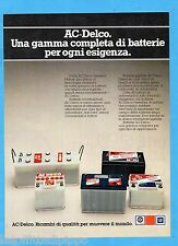 QUATTROR982-PUBBLICITA'/ADVERTISING-1982- AC-DELCO - BATTERIE