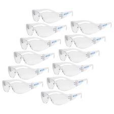 12 PAIR JORESTECH CLEAR UV400 LENS LOT SAFETY GLASSES BULK NEW