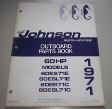 Parts Book Johnson Sea Horse Ersatzteilkatalog 60 HP 60ES71E 60ESL71E 60ESL71C!
