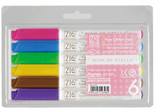 NEW- Zig Wink of Stella Glitter Marker- 6 color pen set- write/draw w/ sparkle!