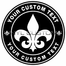 "3"" Fleur De Lis Custom Logo Decal Sticker Decal Sticker"