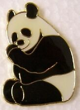 Hat Lapel Pin Scarf Clasp Animal Panda Bear sitting NEW