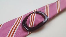 J. CREW Ring BELT Silk STRIPED Multicolor S/M Size MENS Pink WHITE Rings D Man**