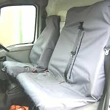 Ford Transit Crew Cab 00-06 HEAVY DUTY GREY WATERPROOF VAN SEAT COVERS 2+1