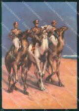 Militari Gruppo Carabinieri Reali Libia Orientale Coloniali cartolina MT9849