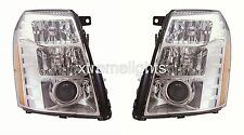 CADILLAC ESCALADE 2007 2008 PAIR LEFT RIGHT HID HEADLIGHTS HEAD LAMPS LIGHTS
