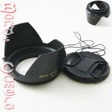 77mm 77 mm Plastic Standard Crown Petal Flower Lens Hood + Center Snap on cap