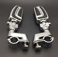 "CrAirFlow FootPegs 1 1/4"" 1.25"" For Triumph Rocket Yamaha V-STAR Roadstar Suzuki"
