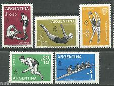 ARGENTINA Mi# 706/710 ** MNH Set. Pan-American Games boxing, running, swimming