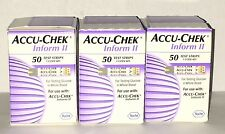 exp 09/2017 Roche Accu Chek Inform II Blood Glucose Test Strips-50 Pack of 3