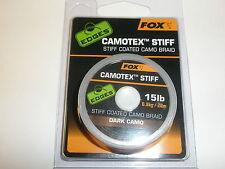 Fox Edges Camotex Rígido Hooklink Material Camuflaje Oscuro 7kg 20m