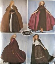 Vtg UC Simplicity 5794 Sew Pattern Hooded Cloak Cape Coat Steampunk Gothic LOTR