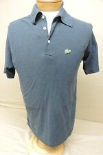 Vintage Chemise Lacoste men's medium? distressed blue shirt short sleeve