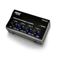 Pyle Pro Música DJ 4 canal amplificador de auriculares estéreo compacto Amplificador de distribución