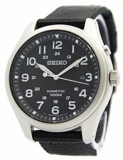 Seiko Kinetic Black Dial 100M SKA727 SKA727P1 SKA727P Mens Watch