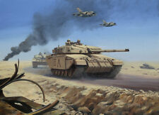 Challenger I Queens Royal Irish Hussars Gulf War 1991 Tank Painting Art Print