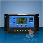10/20/30A 12/24V LCD Solar Panel LCD Regulator Dual Charge Controller Timer USB