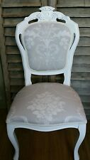 Laura Ashley 'Josette' Dove grey  louis french style boudoir chair and cushion
