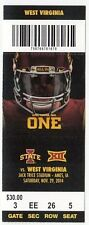 2014 IOWA STATE CYCLONES VS WEST VIRGINIA TICKET STUB 11/29 COLLEGE FOOTBALL