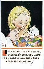 """Artist Signed Mabel Lucie Attwell No. 5501, """"I'm Asking for a Blessing!"""""""