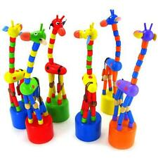 Kids Dancing Stand Rocking Giraffe Intelligence Develop Wooden Toys New2016 T
