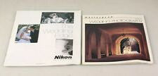 WEDDING PHOTOGRAPHY BOOKLETS NIKON AND HASSELBLAD SET OF 2