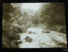 Glass Magic lantern Slide VIEW OF RIVER LLEDR NORTH WALES . C1913 WALES