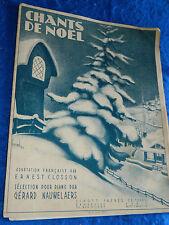 PARTITION sheet music CHANTS de NOEL ernest CLOSSON gerard NAUWELAERS henval