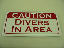 CAUTION DIVERS IN AREA Metal Tin Sign NEW 4 Golf Ball Pool Marina SCUBA Lake